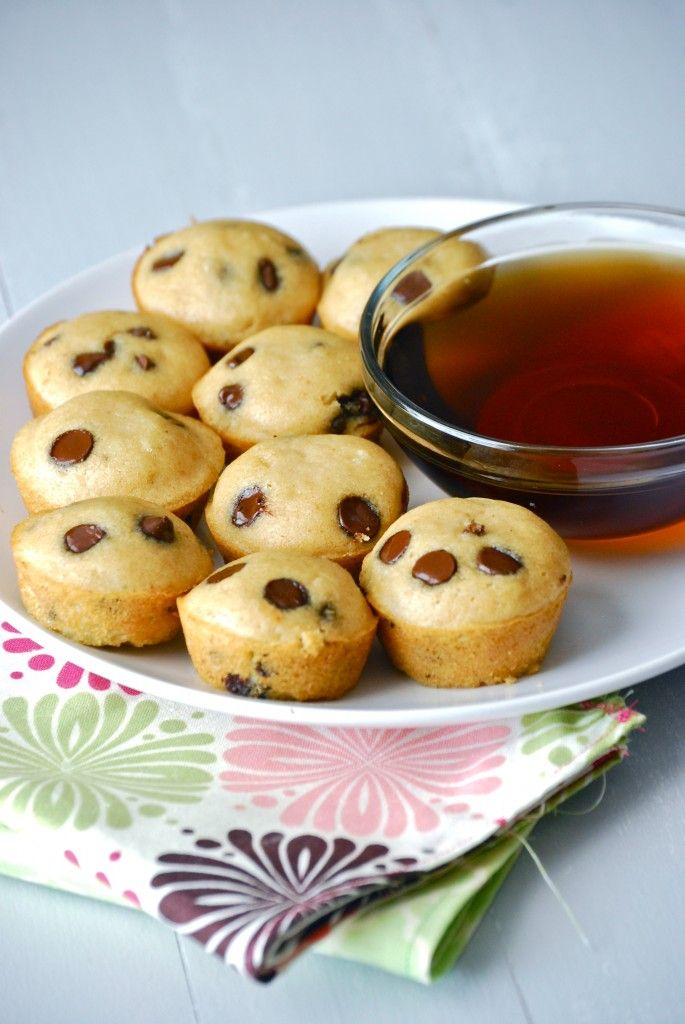 Pancake bites! What you'll need: Pancake mix. Chocolate chips. Blueberries. Strawberries. Directions: Lightly grease each cupcake tin. Pour pancake mix as if you were baking cupcakes. Add a small handful of fruit or chocolate chips. Bake 350 degrees for 20-25 minutes...: