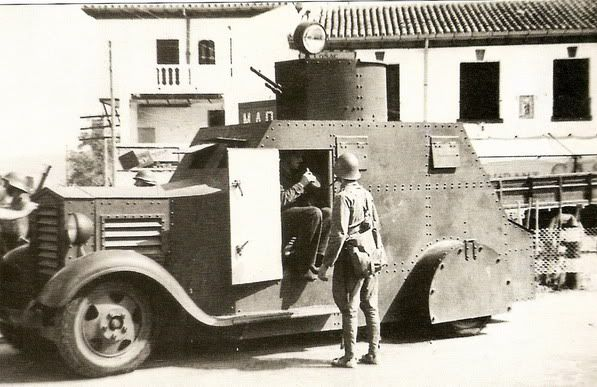 Spain - 1936-39. - GC - Autoametralladora Bilbao Modelo 32 en la Guardia de Asalto