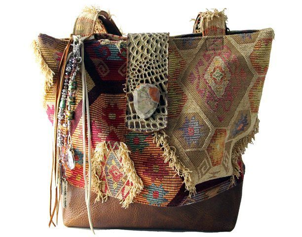 Eternal Perspective designer handbag.  Since 1984, Tom Taylor - Santa Fe.  **Handmade in the USA**