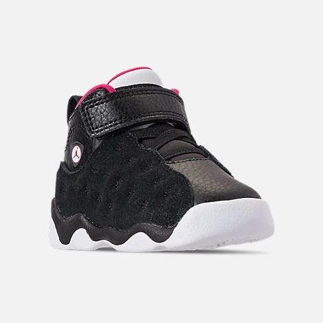 6ea121d655b8d5 Three Quarter view of Girls  Toddler Jordan Jumpman Team II Basketball Shoes