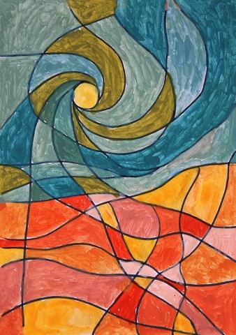 Trabajos creativos en Mosaico. Trencadis.: Taller de pintura y manualidades con ancianos