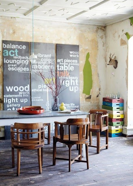 Great down to earth dining area.