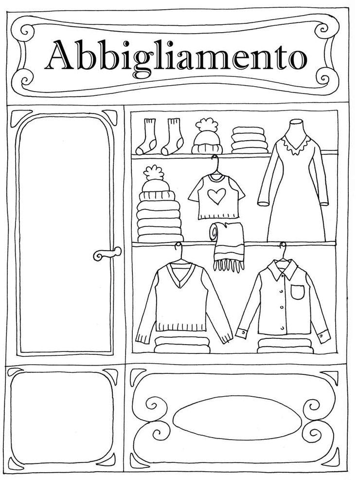 disegno bimbo vestito invernale da colorare
