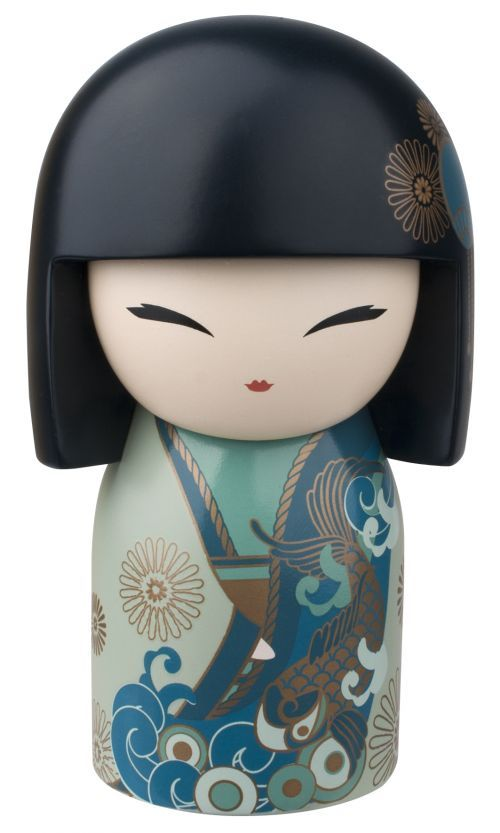 """Kimmidoll™ Yoshiko - 'Good Luck' - """"My spirit is generous and grateful. Your generosity in sharing your own good fortune with others reveals the true meaning of my spirit. May your appreciative nature and your love of giving bring you joy and fulfillment, and may life continue to bring you all the blessings of prosperity."""""""