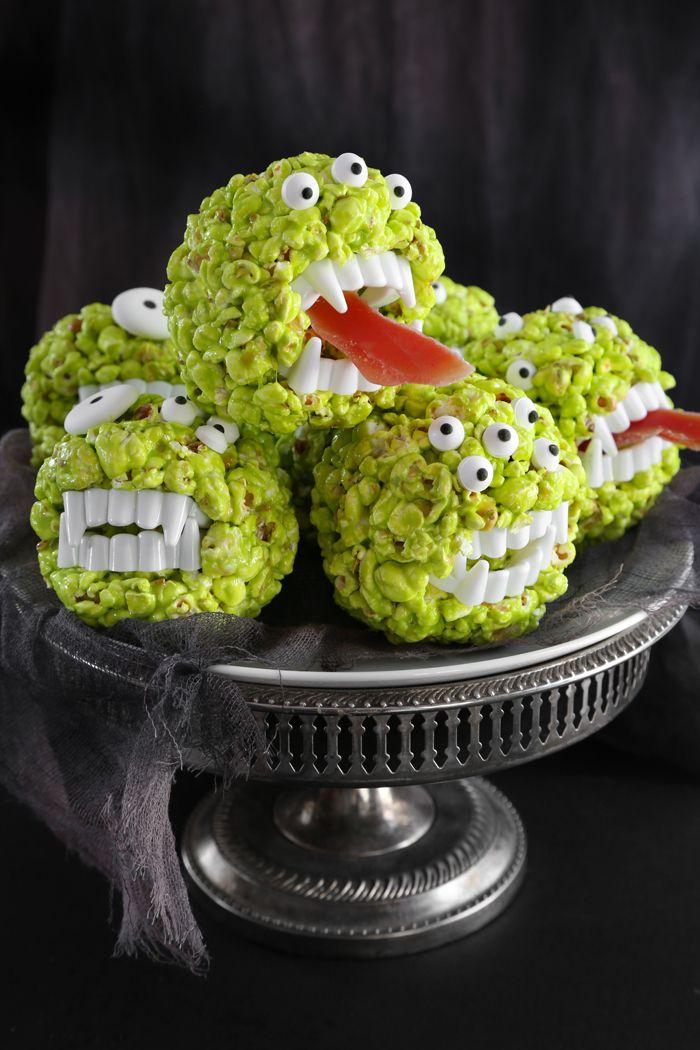 Monster Popcorn Balls | Sprinkle Bakes