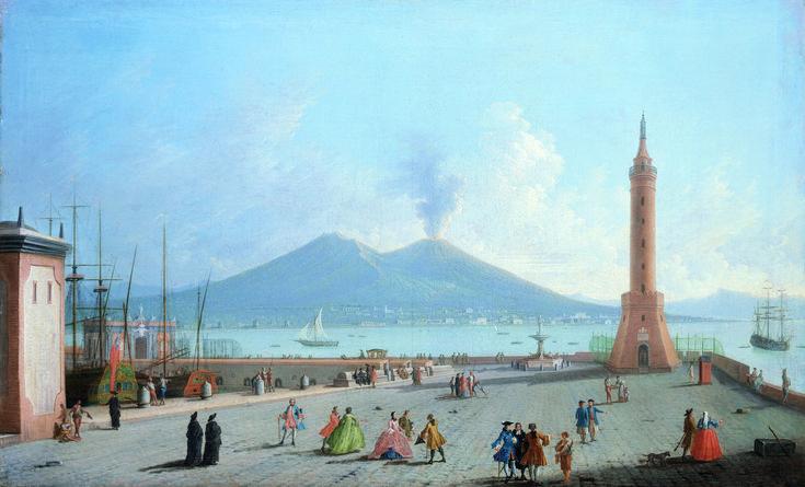 The Lanterna del Molo, Naples ; Artist: Gabriele Ricciardelli ; Year: Unknown