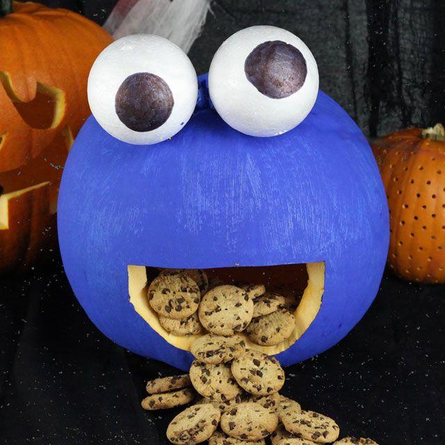 Monster Halloween Cookies: 17 Best Ideas About Cookie Monster Pumpkin On Pinterest