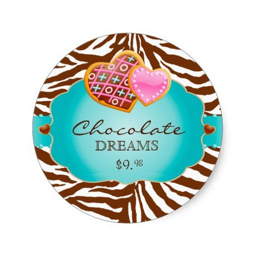 Bakery Stickers Cookies Chocolate Blue $6.50 per sheet of 20.