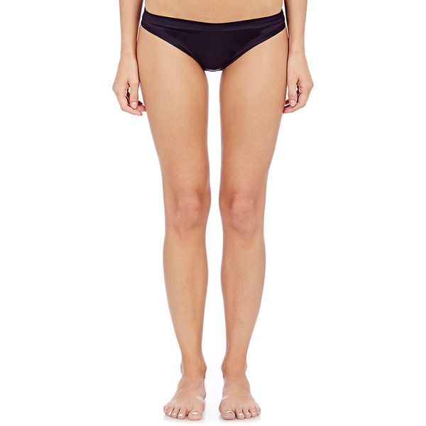 Eres Women's Satin D'Enfer Angelot Bikini Briefs ($89) ❤ liked on Polyvore featuring intimates, panties, purple, brief bikini bottoms, purple bikini bottoms, purple jersey and swim bikini bottoms