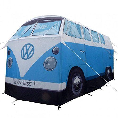 Maßstabsgetreues VW T1 Bulli Zelt in blau - Volkswagen T1 Bus Campingzelt VW Campervan Bulli T1