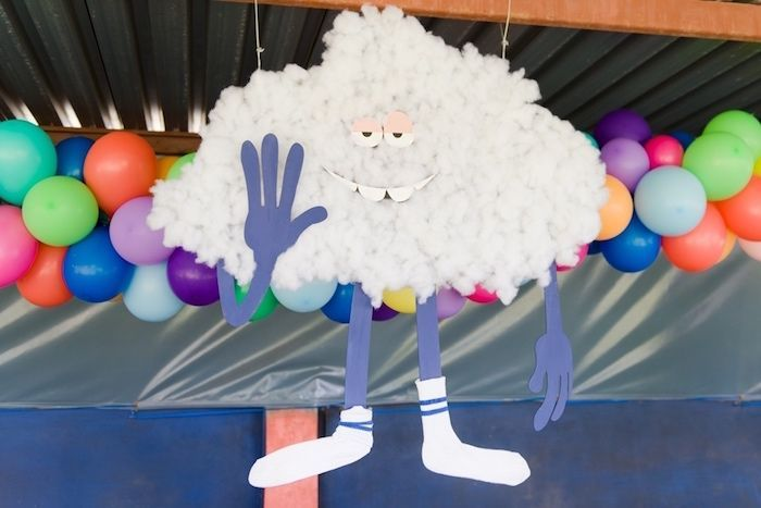 Cloud Guy decoration from a Trolls Birthday Party on Kara's Party Ideas | KarasPartyIdeas.com (17)