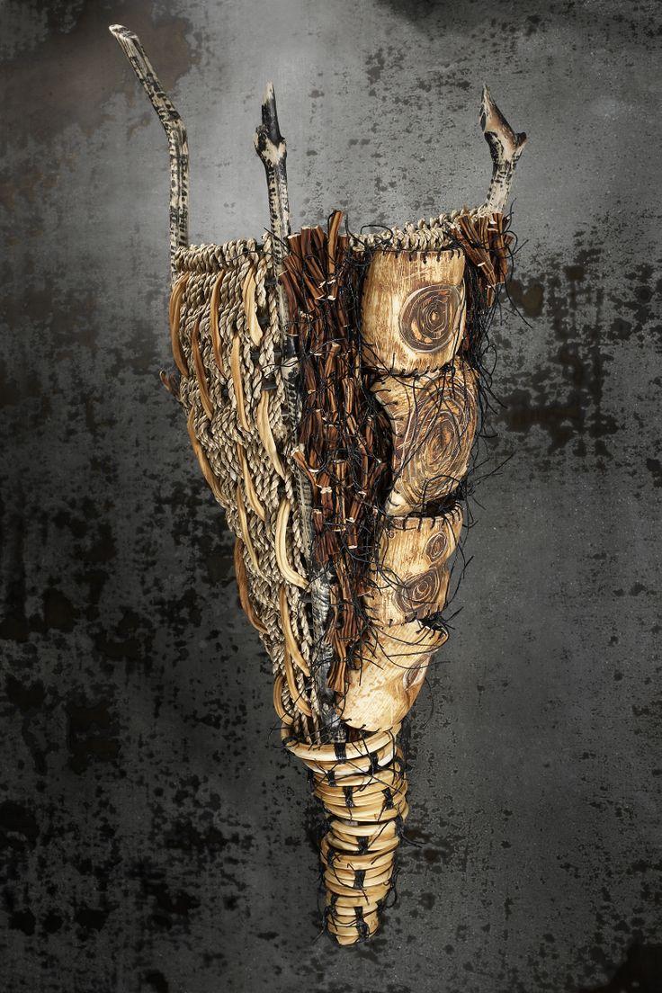 ARTIST: Shannon Weber, Oregon  Beaver sticks, sea grass, woven, carved & stitched Pacific Bullwhip sea kelp
