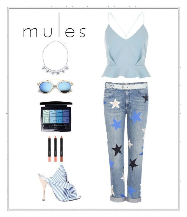 """#MULES #SHOES"" by rita-tahchi ❤ liked on Polyvore featuring STELLA McCARTNEY, River Island, M&Co, N°21, ZeroUV, Christian Dior and MAC Cosmetics"