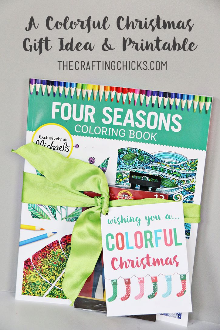 Coloring Book Gift Idea and Free Printable