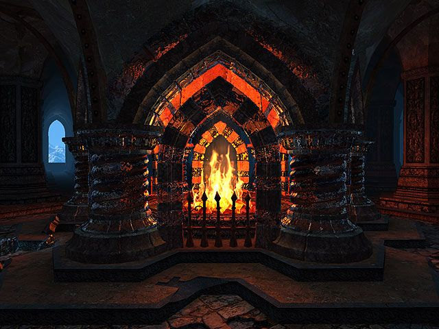 Animated Fireplace Wallpaper Huge Gothic Fireplace In 2019 Fireplace Screensaver