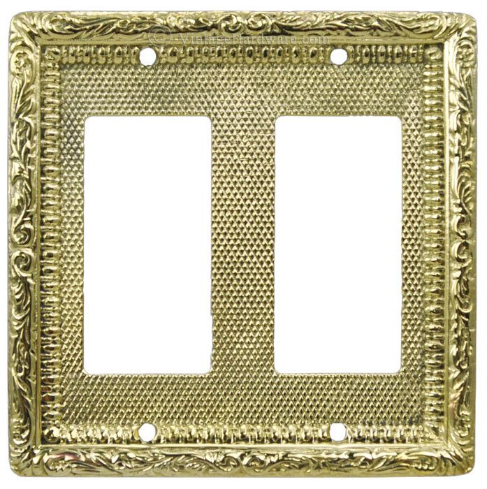 Vintage Hardware & Lighting - Victorian Decorative Double GFI or Rocker Switch Plate Cover (L-W14)