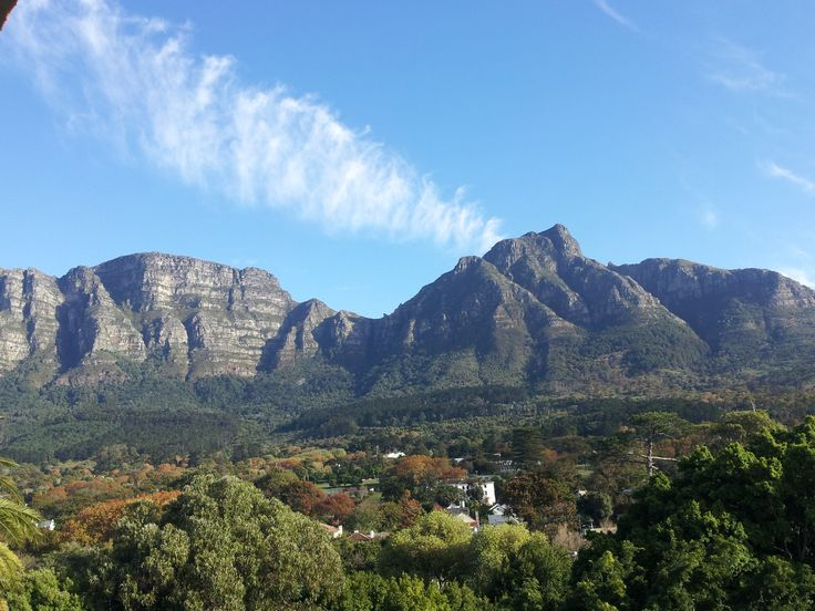 The view from the Newlands Hotel in Cape Town - ah, gotta love Table Mountain