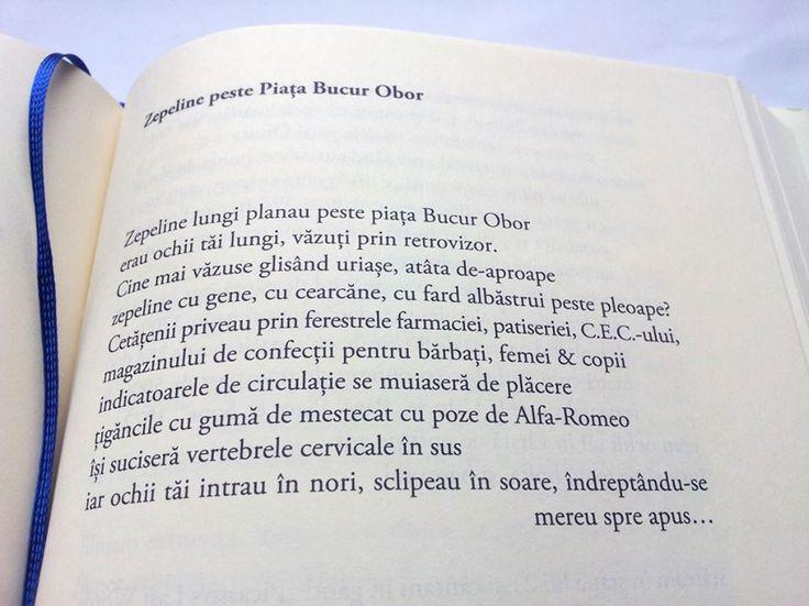"""""""Zepeline peste Piața Bucur Obor"""" Mircea Cartarescu"""