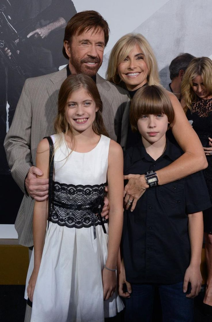 """Chuck Norris First Wife   Chuck Norris and Gena O'Kelly and their children attend """"The ..."""