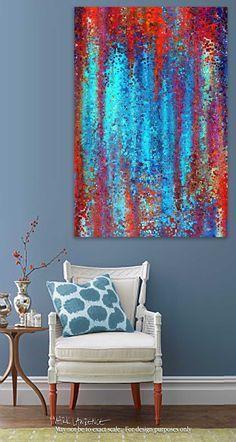 Christian Art | Psalm 119:165 Great Peace | Modern Abstract Art
