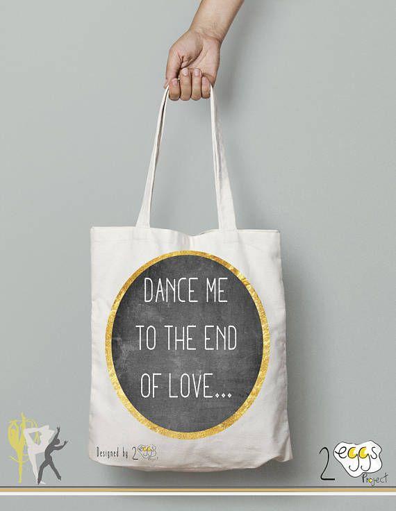 Dance gift tote bag canvas dance bag printed tote bag Gift
