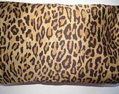 Ralph Lauren Twin Single Fitted Sheet Leopard Print Bohemian Venetian Court Brown Tan Spots Animal Print Bedroom Decor