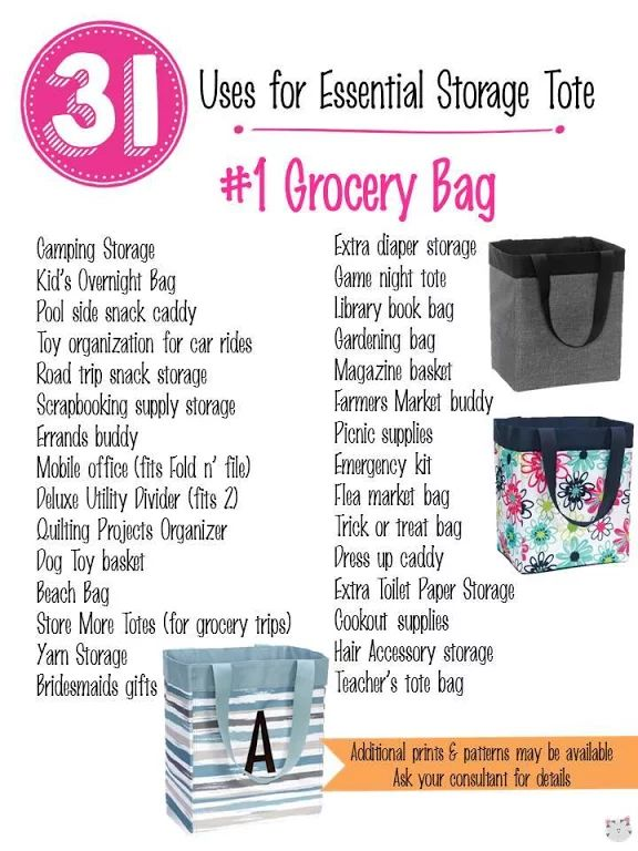 31 Uses for Thirty-One Essential Storage Tote! #Carrie31Bags