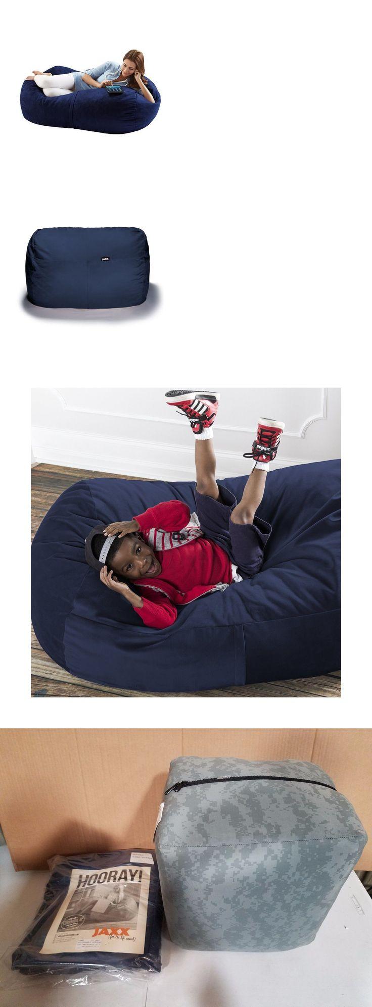 Big joe zip modular armless chair at brookstone buy now - Bean Bags And Inflatables 48319 Jaxx Bean Bags Sofa Saxx Lounger 4 Feet Navy