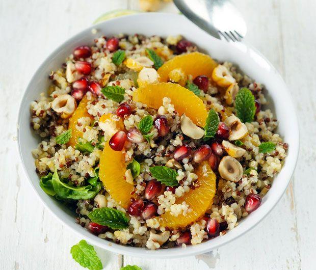 Salade fruitée aux deux quinoas