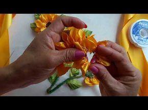 Flores de tela con Tenedor - Cinturon con Flores DIY Tutorial - YouTube