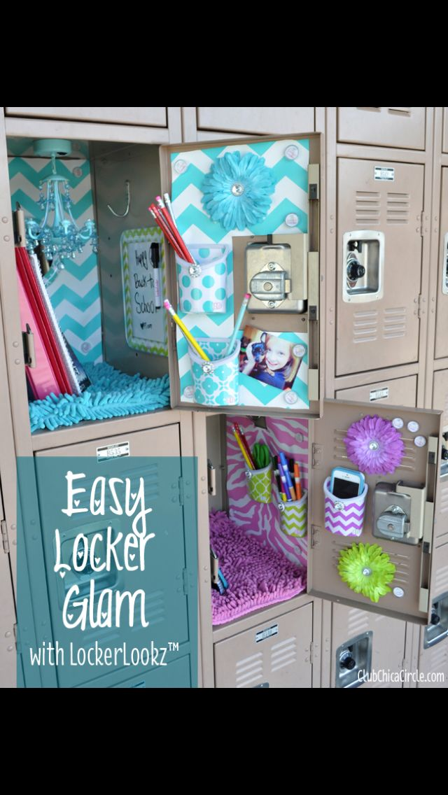 Easy Locker Decor for girls!!
