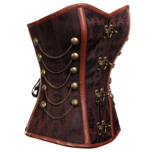 : Brown Steampunk, Steampunk Corset, Corsets, Steampunk Style, Steampunk Brown Gold, Steam Punk, Overbust Corset