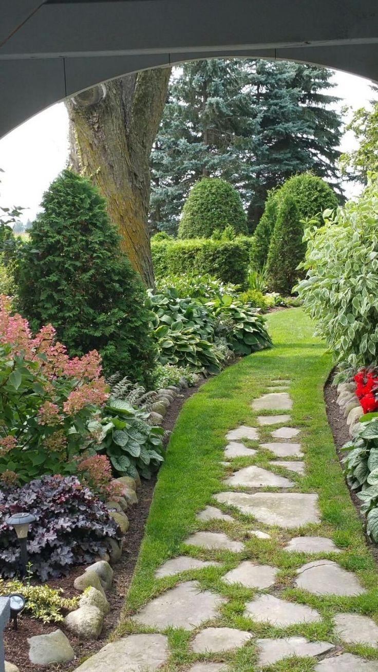 Garden Path Ideas Praktische Gartenpfad Ideen Bieten Einfachen Zugang Zu Regelmassigen Bieten Ein In 2020 With Images Sloped Garden Beautiful Gardens Landscape Shade Garden