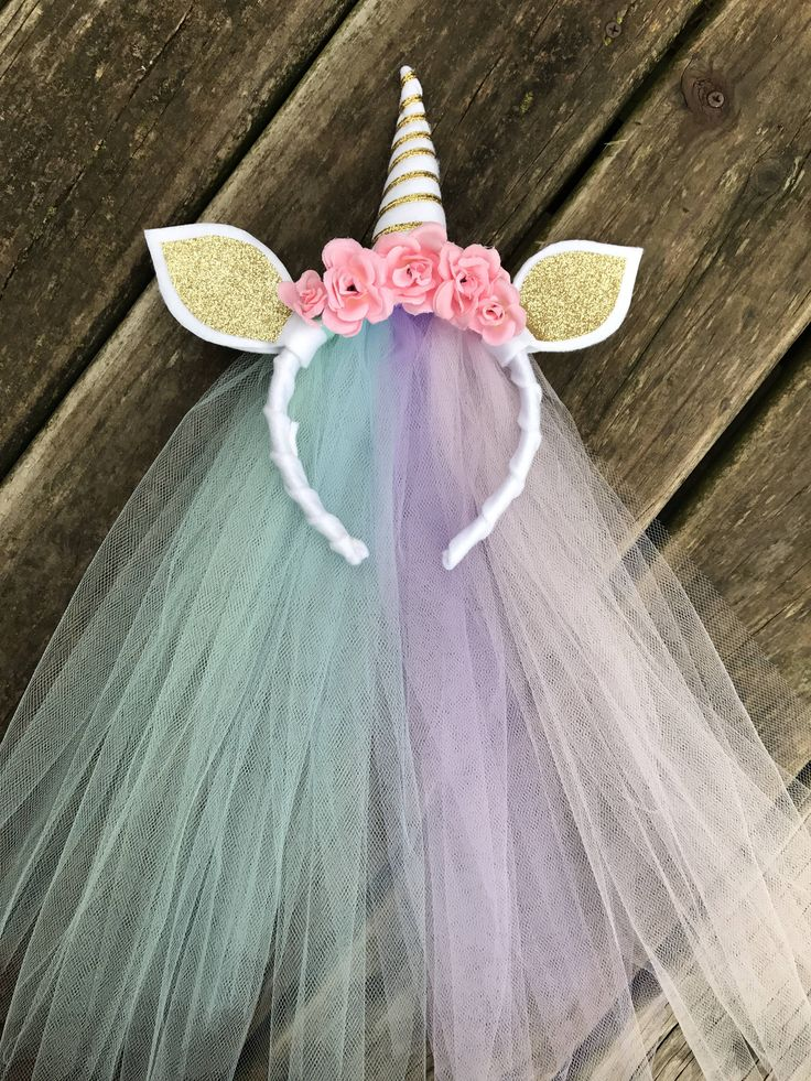This unicorn headband is so fun for birthday parties, dress up, bachelorette parties, and more! Great for kids and adults alike. Headband is wrapped in white wool felt, with tulle tied on to hang down the back. The headband also has a no slip grip attached so that it wont slip off the hair. It will fit children and adults. Thank you so much for visiting my shop! To see more items I have for sale click on the link! https://www.etsy.com/shop/heffernanprincess?ref=search...