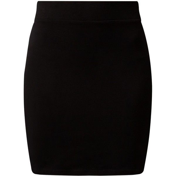 New Look Black High Waisted Tube Skirt found on Polyvore featuring skirts, bottoms, jupes, saias, black, elastic waist mini skirt, high-waist skirt, tube mini skirt, tube skirt and high waisted skirts