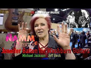 "Jennifer Batten: Washburn booth with Ishibashi Music NAMM 2017   Known mostly for being Michael Jackson's Lead Guitarist for 10 years Jennifer Batten was the right person in the right place at the right time. Hear the story of how she got the job with Michael how he shut down Tokyo Disneyland for some private time & a whole lot more. For additional information & links click ""SHOW MORE"" and scroll down. This is the video we talked about at 6:40... Fractal Audio AX8: 4 Cable Method Tutorial…"