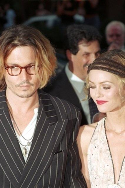 Johnny Depp et Vanessa Paradis à l'avant première de Once Upon a Time in Mexico en 2003