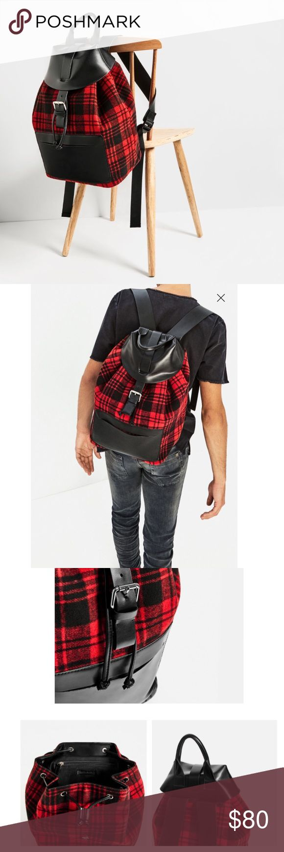 Zara Check Print Backpack NWT New with tags // SOLD OUT ONLINE & IN STORES // 15% off on bundles. I ship same-day from pet/smoke-free home. Buy with confidence. I am an expert top seller with close to 400 5-star ratings and A LOT of love notes. Check them out. 😊😎 Zara Bags Backpacks