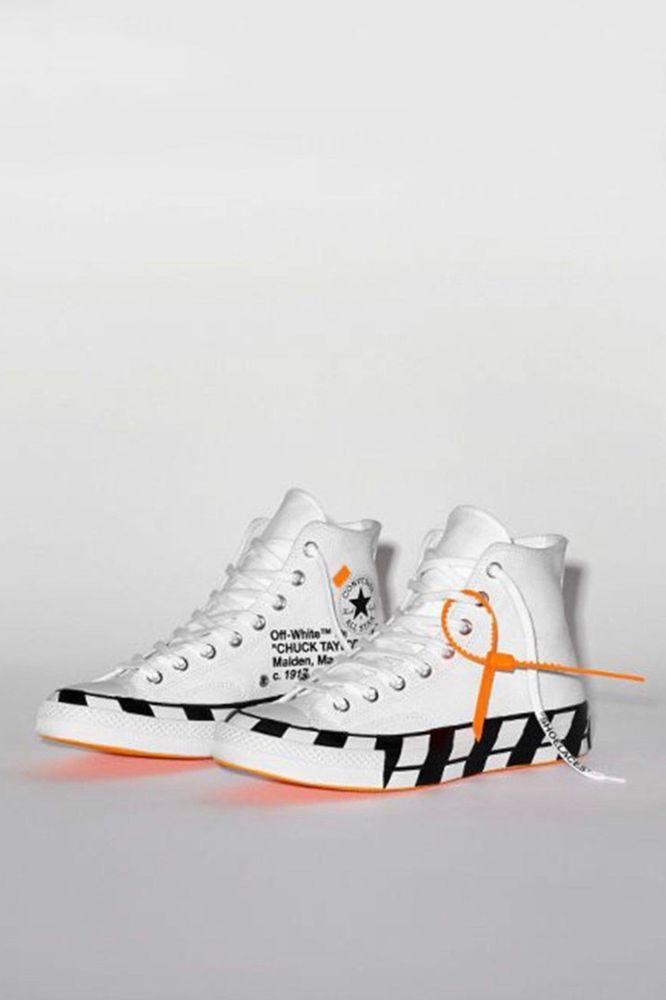 24aa593345ca OFF WHITE x Converse Chuck Taylor All Star 70 Hi by Virgil Abloh SIZE 8.5   fashion  clothing  shoes  accessories  mensshoes  athleticshoes (ebay link)