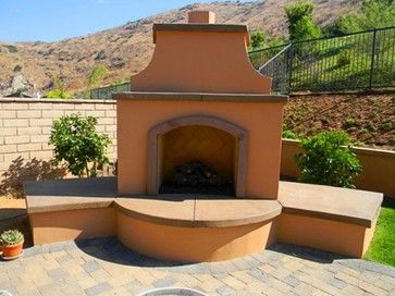 Stucco Outdoor Fireplace Design Ideas Pictures Remodel