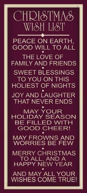 Christmas Wish List....