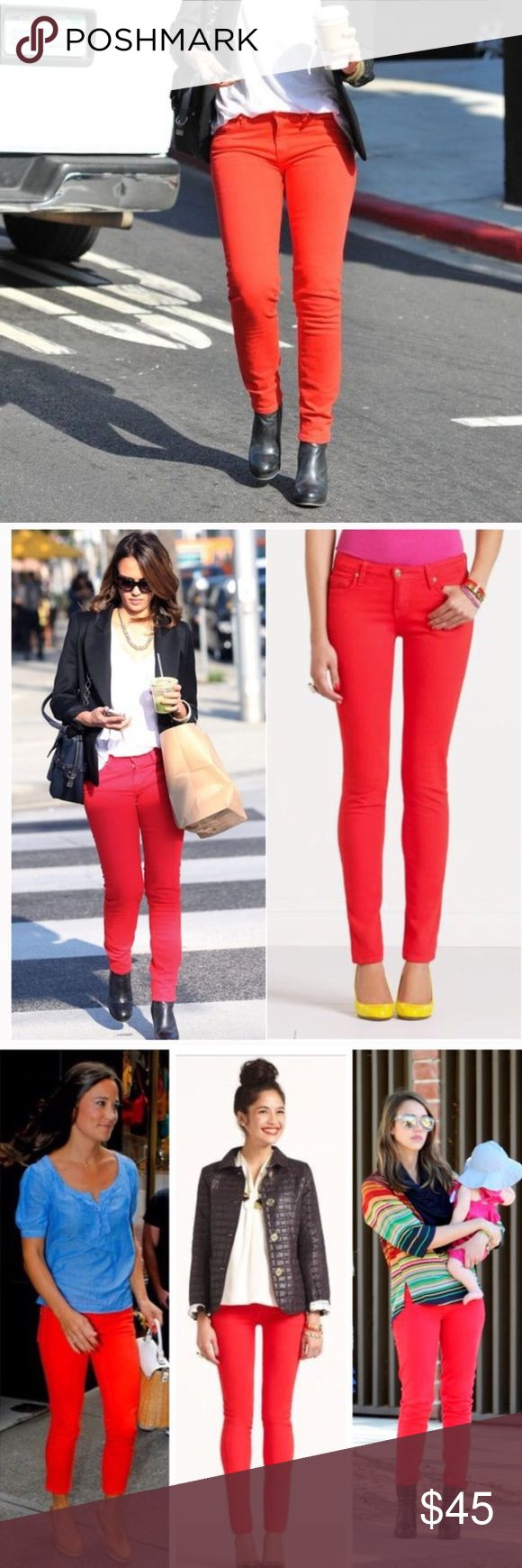 Kate Spade Broome Street Red Skinny Jeans Kate Spade Broome Street red jeans.  Fits true to size.  Slightly faded.  In gently used good condition.  Measurements available upon request.  All orders ship same or next business day! kate spade Jeans Skinny