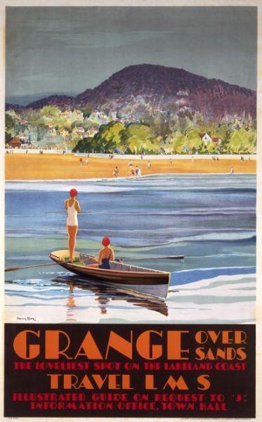 Old railway poster: Grange over Sands, Cumbria