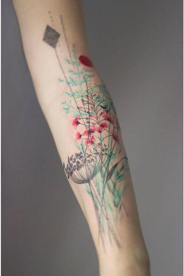Un bouquet léger sur l'avant-bras