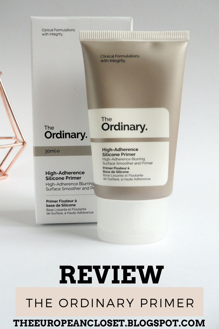 The European Closet: The Ordinary High-Adherence Silicone Primer Review