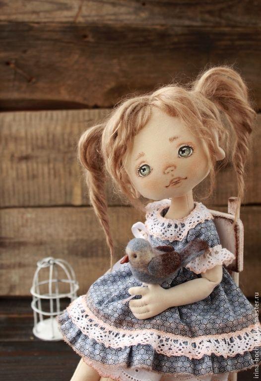 Родная душа - голубой,кукла ручной работы,кукла,кукла в подарок,кукла интерьерная
