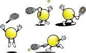 raqueta de tenis : Tenis Guy Vectores