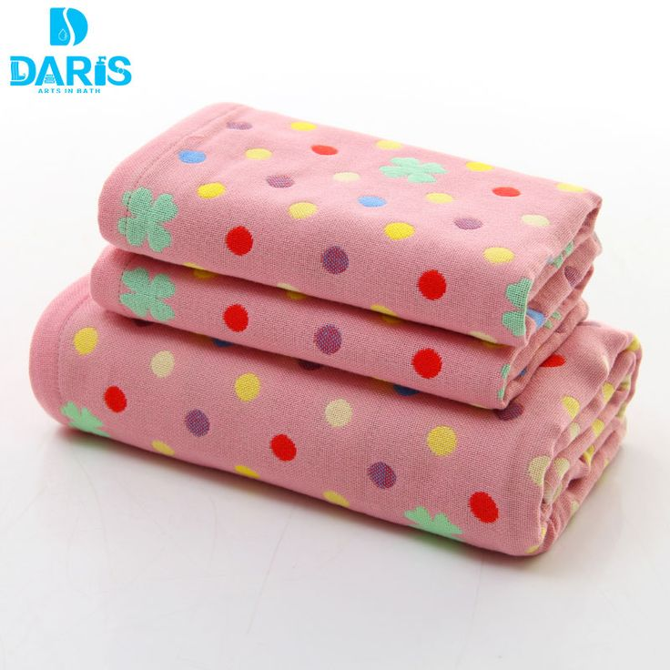 DARIS Cartoon Soft Dry Faster Microfiber Towel Quality Cute Dot Bath Towel Set Home Textile Clean Bath Towels Face Hand Hair