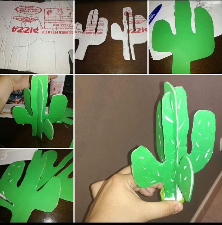 Tutorial cactus cartone pizza