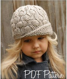 Knitting PATTERNThe Harmony Cloche' Toddler